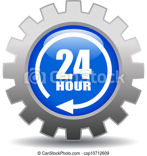 24 hour service vector icon - csp10712609