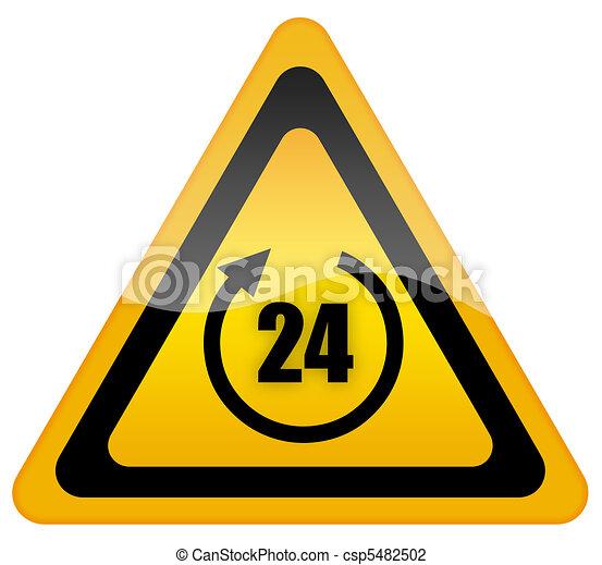 24 hour sign - csp5482502