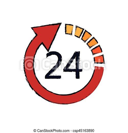 24 hours service - csp45163890