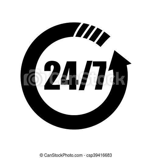 24 hours service - csp39416683