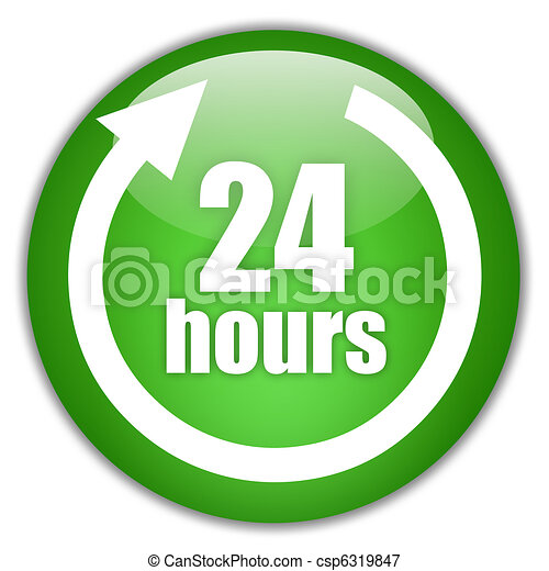 24 hours service sign - csp6319847