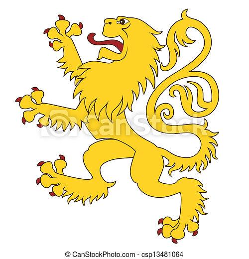 24, leone, araldico - csp13481064