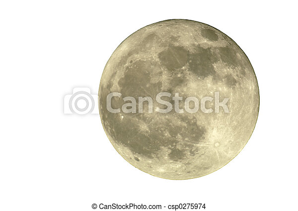 2400mm Full Moon, Isolated - csp0275974