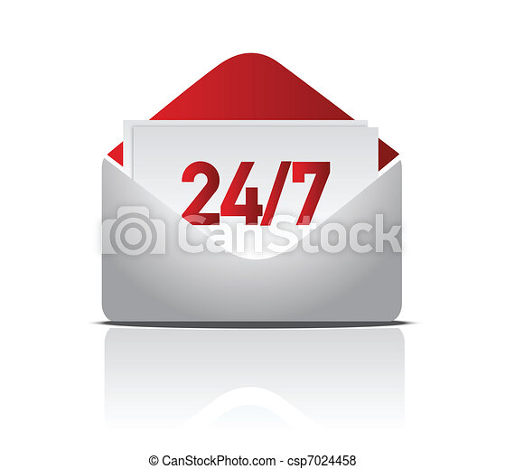 24/7 delivery mail illustration - csp7024458