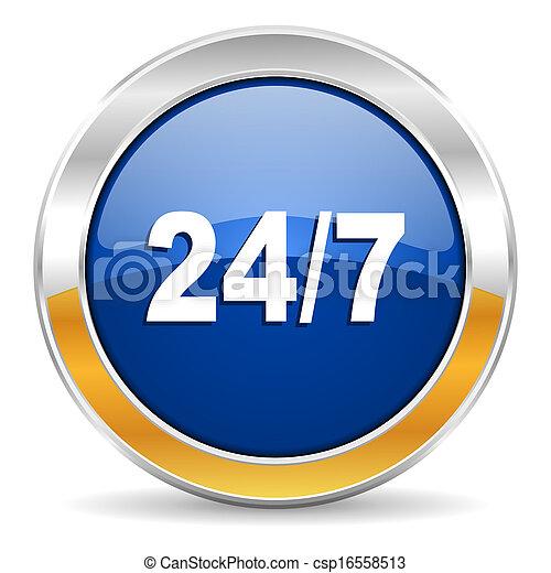 24/7 icon - csp16558513