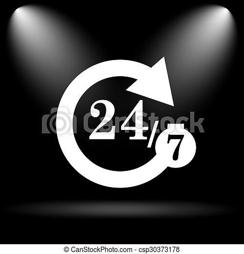 24/7 icon - csp30373178