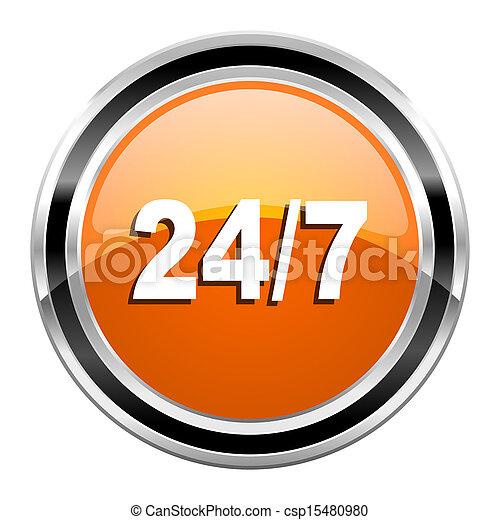 24/7 icon - csp15480980