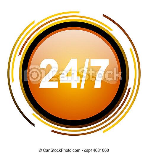 24/7 icon - csp14631060