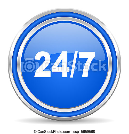 24/7 icon - csp15659568