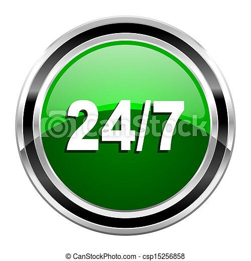 24/7 icon - csp15256858
