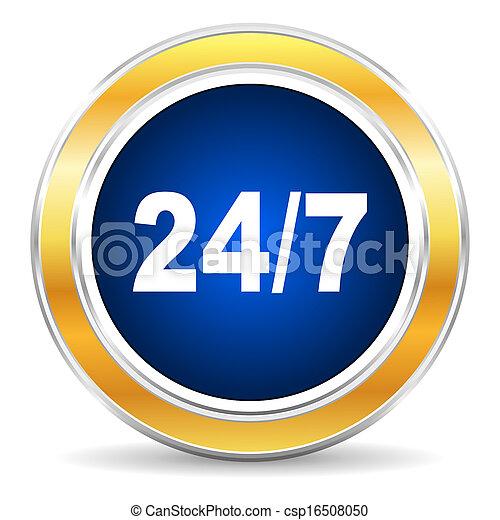 24/7 icon - csp16508050
