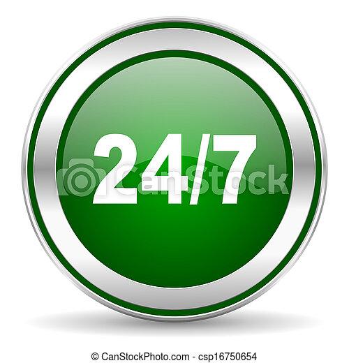 24/7 icon - csp16750654