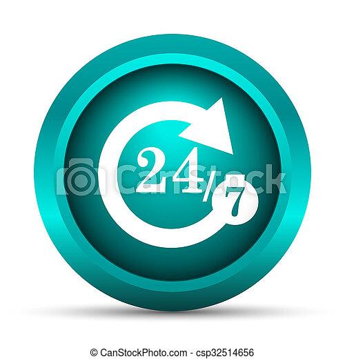 24/7 icon - csp32514656