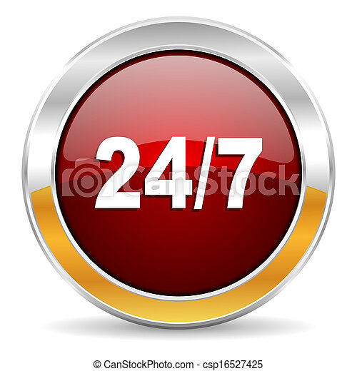 24/7 icon - csp16527425