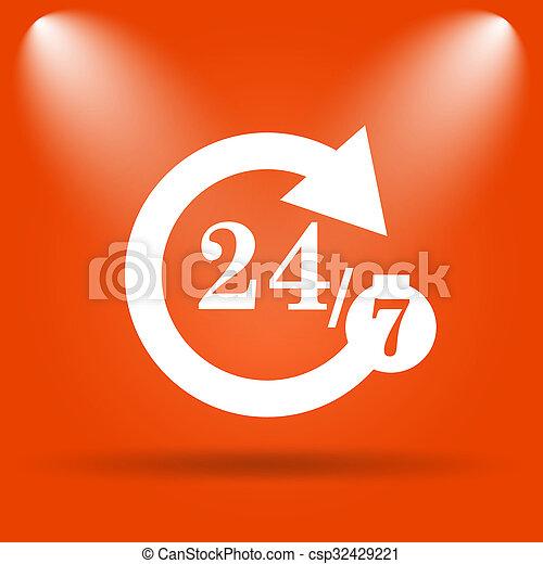 24/7 icon - csp32429221
