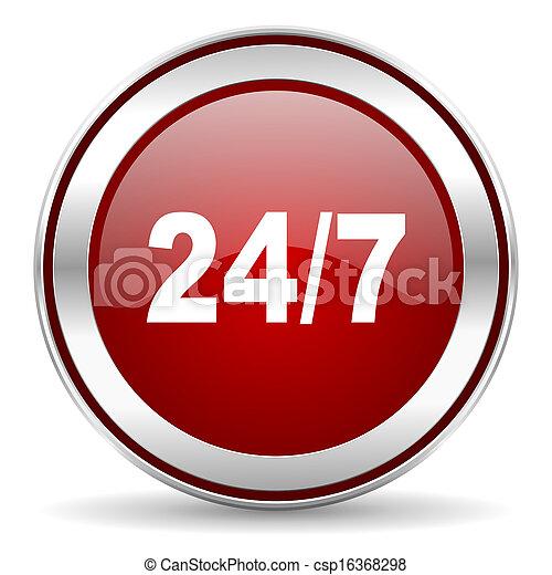 24/7 icon - csp16368298