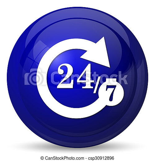 24/7 icon - csp30912896