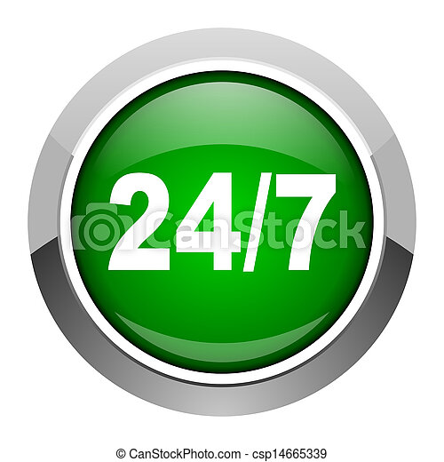 24/7 icon - csp14665339