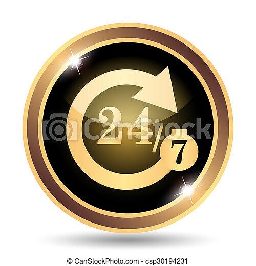 24/7 icon - csp30194231