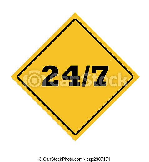 24/7 roadsign - csp2307171