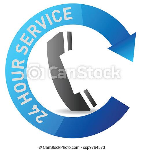 24/7 service illustration design - csp9764573