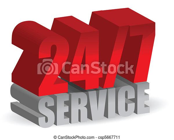 24/7, servicio - csp5667711