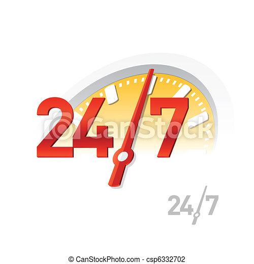 24/7 sign - csp6332702