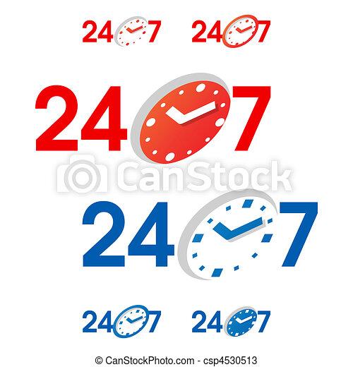 24/7 signs - csp4530513