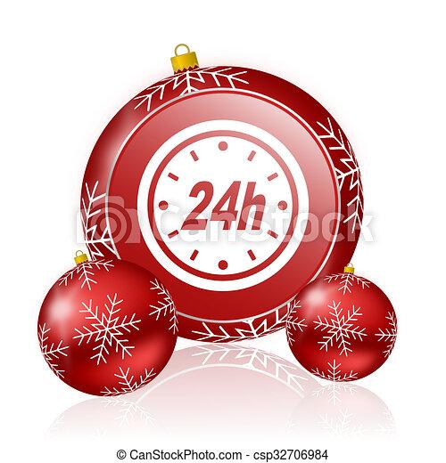 24h christmas icon - csp32706984