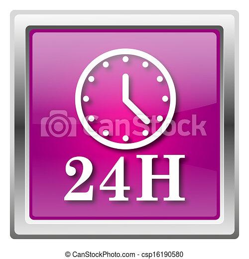 24H clock icon - csp16190580