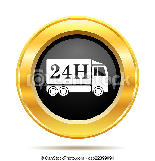 24H delivery truck icon - csp22399994