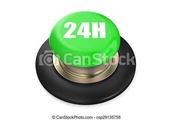 24h Green button - csp29135758