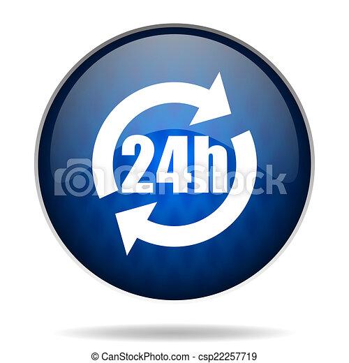 24h internet blue icon - csp22257719