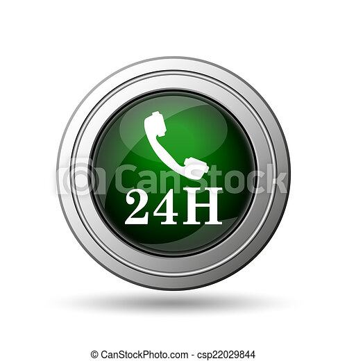 24H phone icon - csp22029844