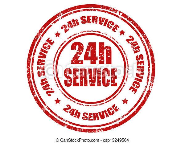 24h service stamp - csp13249564