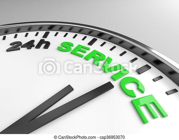 24h service - csp36953070
