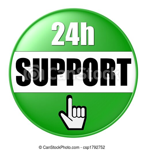 24h support button green - csp1792752