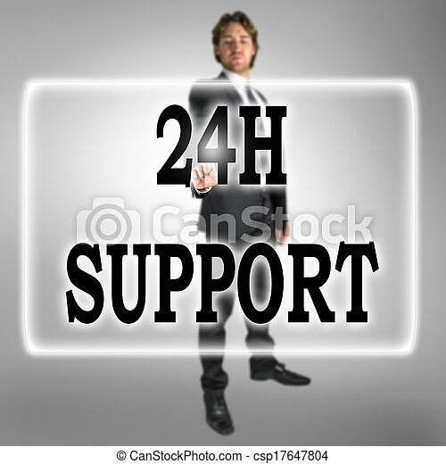 24h Support text on a virtual interface - csp17647804