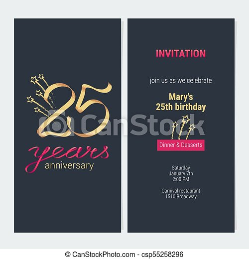 25 Años Por Invitación De Aniversario 25 Años De Invitación