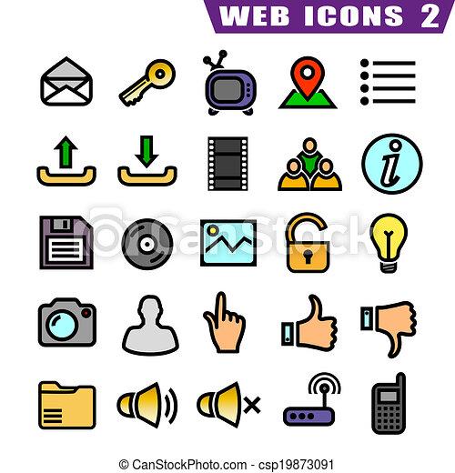 25, icone fotoricettore - csp19873091