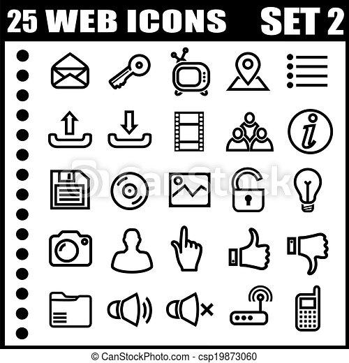 25, icone fotoricettore - csp19873060