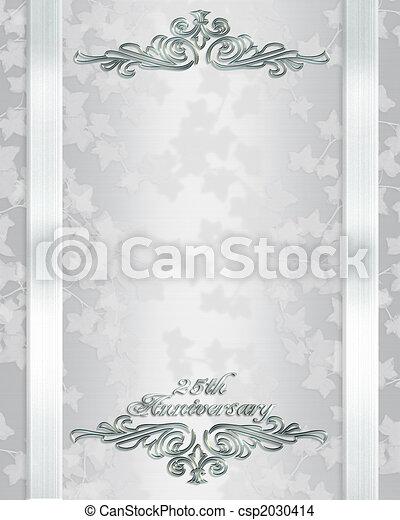 25 Invito Matrimonio Anniversario Anni Composizione Copia