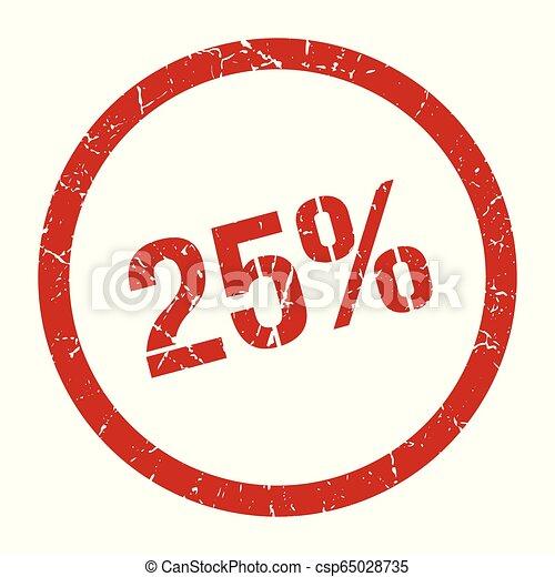 25% stamp - csp65028735