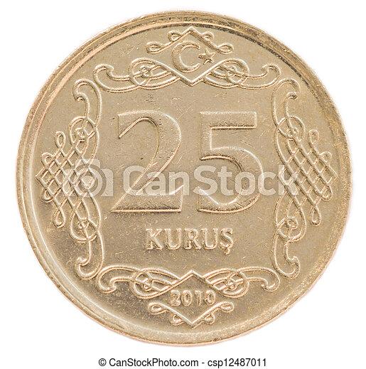 25 turkish kurus coin - csp12487011