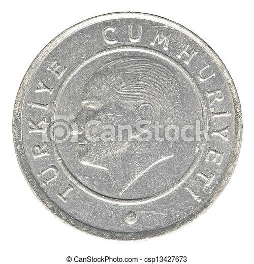 25 turkish kurus coin - csp13427673