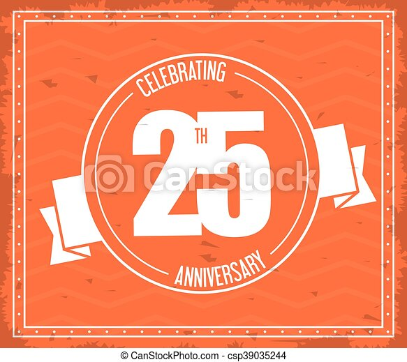 25 Year. Celebrating Anniversary. Vector graphic - csp39035244