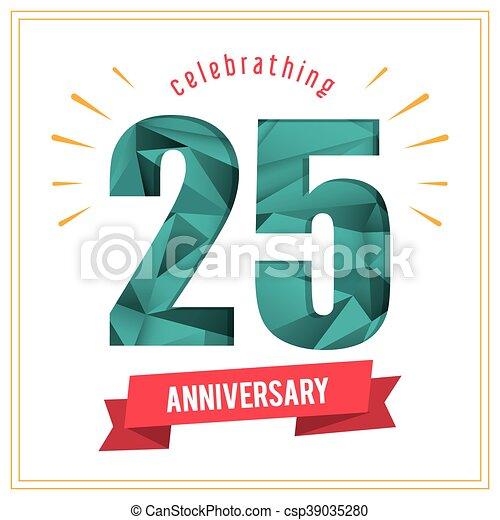 25 Year. Celebrating Anniversary. Vector graphic - csp39035280