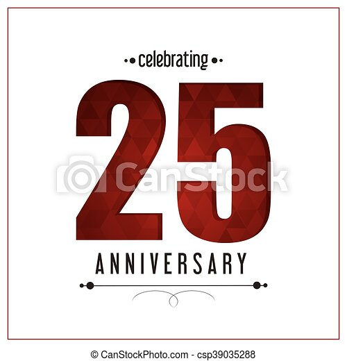 25 Year. Celebrating Anniversary. Vector graphic - csp39035288