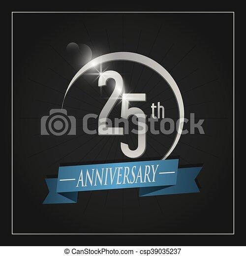 25 Year. Celebrating Anniversary. Vector graphic - csp39035237