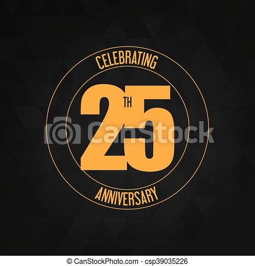 25 Year. Celebrating Anniversary. Vector graphic - csp39035226